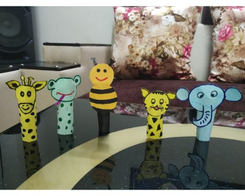 Hand Puppets made by Pre-Primary Students