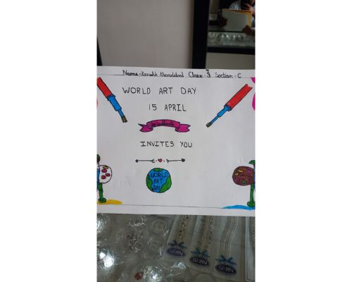 Virtual Celebration of World Art Day by tiny tots of Primary Block