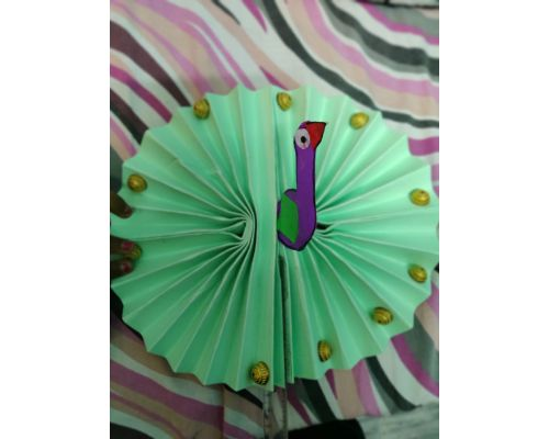 Craft by Pre-Primary Students - Peacock Fan